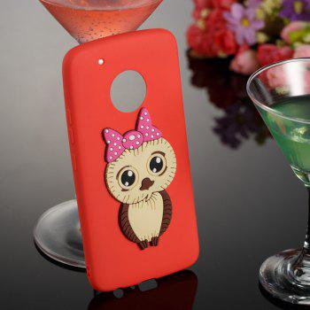 Case for Moto G5 Plus Owl Soft Shell - RED