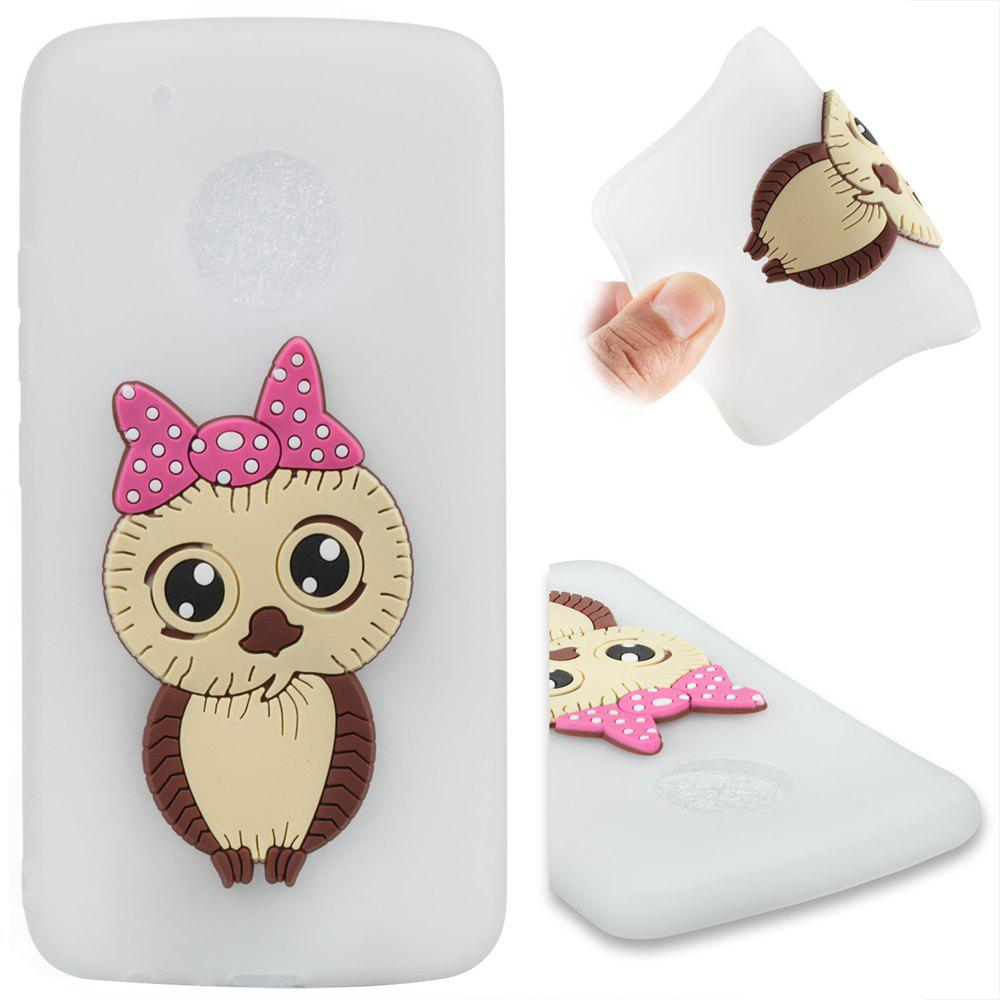 Case for Moto G5 Plus Owl Soft Shell - MILK WHITE