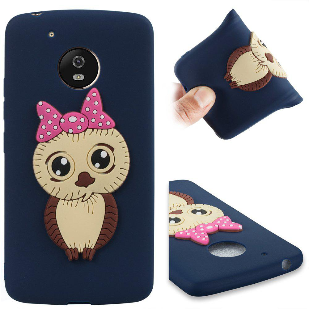 Case for Moto G5 Owl Soft Shell - MIDNIGHT BLUE