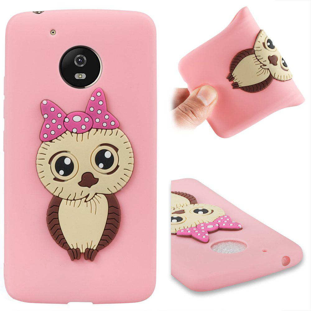 Case for Moto G5 Owl Soft Shell - PINK