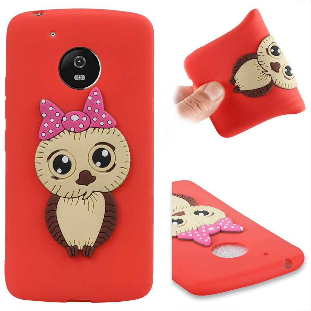 Case for Moto G5 Owl Soft Shell - RED