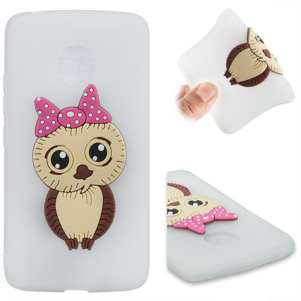 Case for Moto G5 Owl Soft Shell - MILK WHITE
