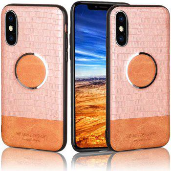 For iPhone X  Case Magnetic Function Special Texture Soft Back Cover - ROSE
