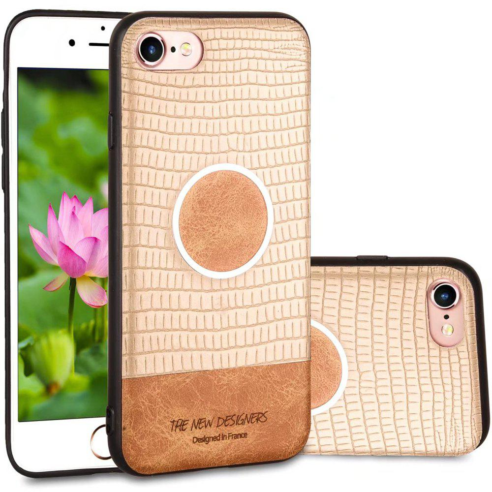 For iPhone 6 Plus / 6s Plus  Case Magnetic Function Soft Back Cover - GOLDEN BROWN