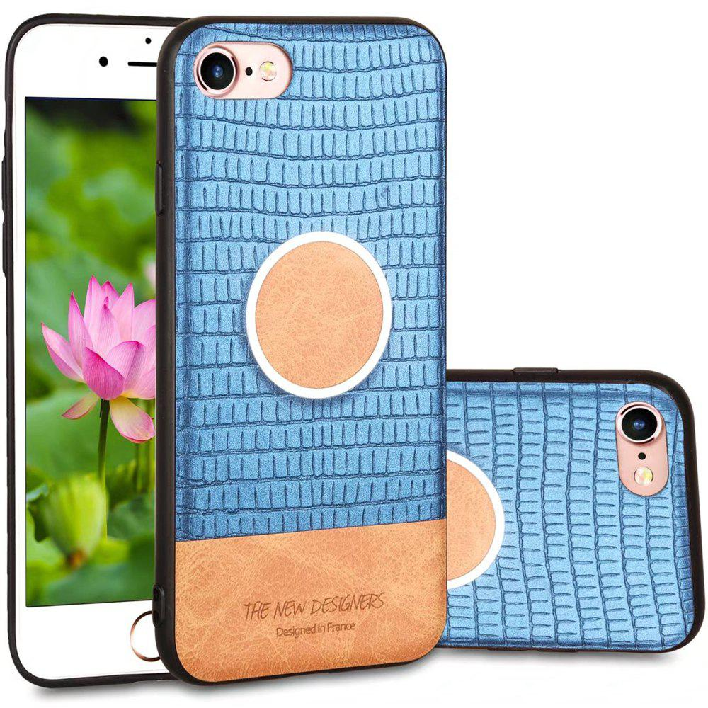 For iPhone 6 Plus / 6s Plus  Case Magnetic Function Soft Back Cover - BLUE