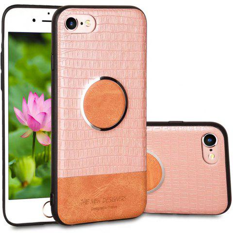 For iPhone 6 / 6S Case Magnetic Function Special Texture Soft Back Cover - ROSE