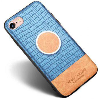 For iPhone 6 / 6S Case Magnetic Function Special Texture Soft Back Cover - BLUE
