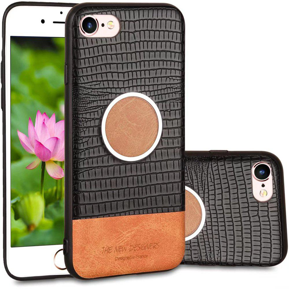 For iPhone 6 / 6S Case Magnetic Function Special Texture Soft Back Cover - BLACK