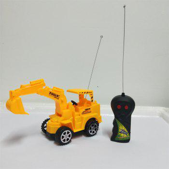Wireless Remote Control Toy Engineering Vehicles Digging Machine Truck - CORN YELLOW