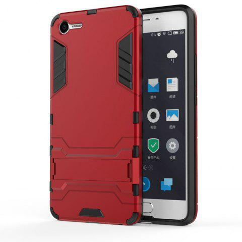 Armor Case for Meizu Meilan E2 Silicon Back Shockproof Protection Cover - RED