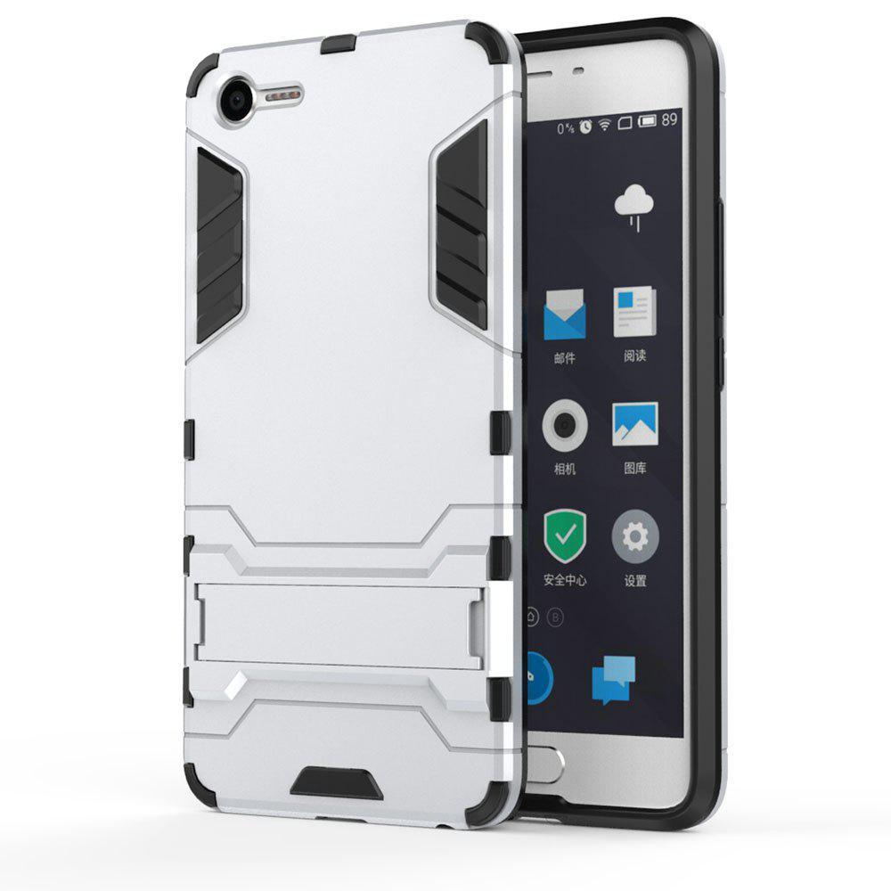 Armor Case for Meizu Meilan E2 Silicon Back Shockproof Protection Cover - SILVER