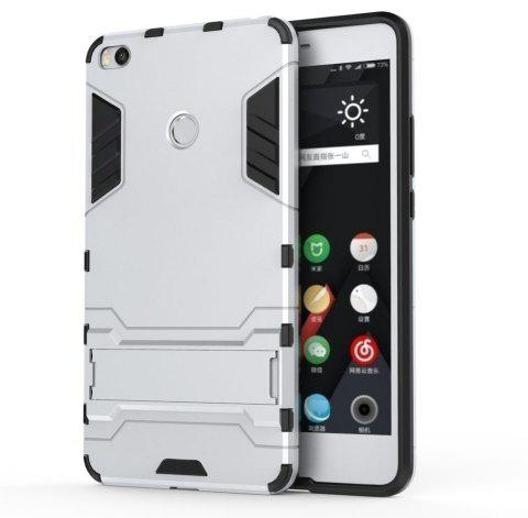 Armor Case for Xiaomi Max 2 Silicon Back Shockproof Protection Cover - SILVER