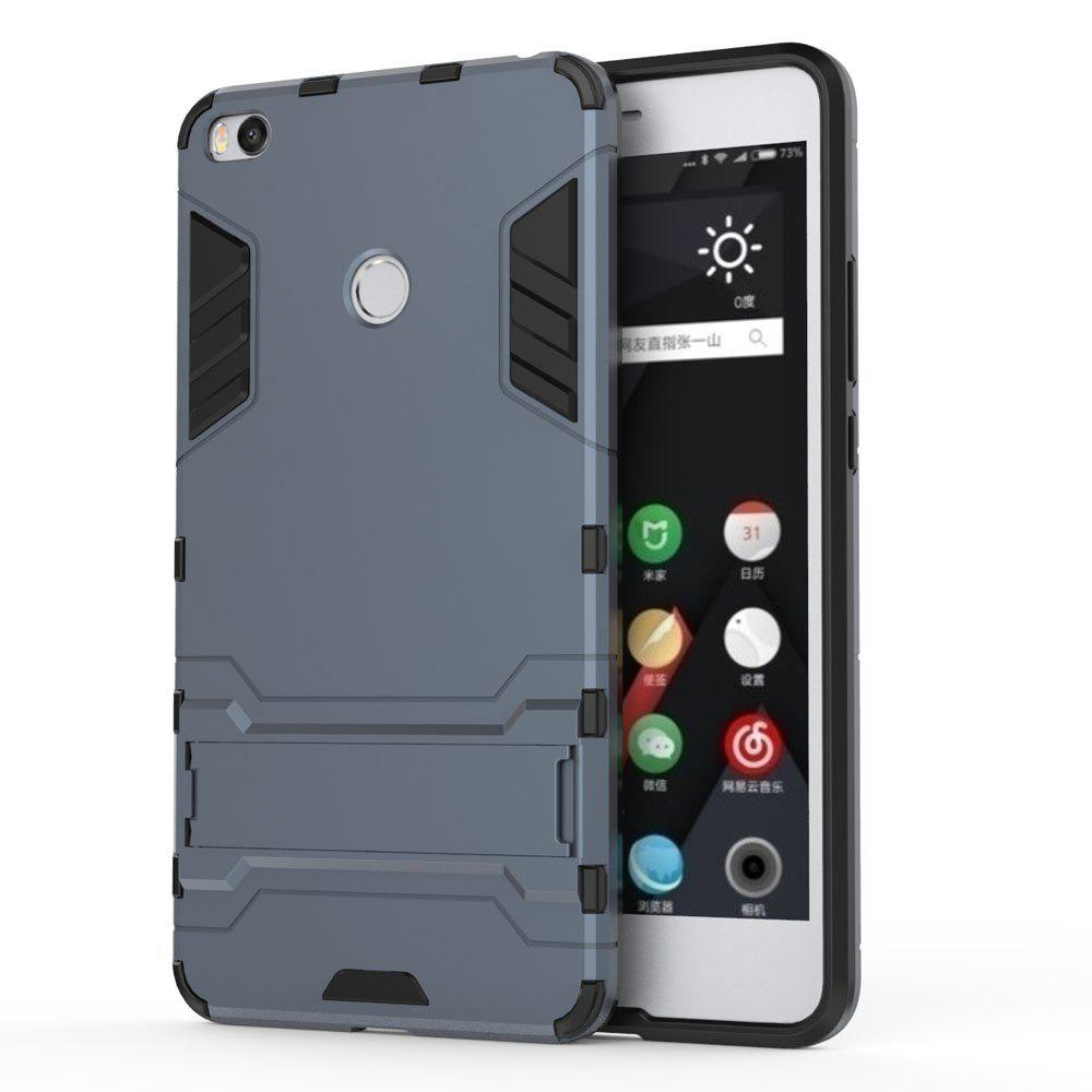 Armor Case for Xiaomi Max 2 Silicon Back Shockproof Protection Cover - MIST BLUE
