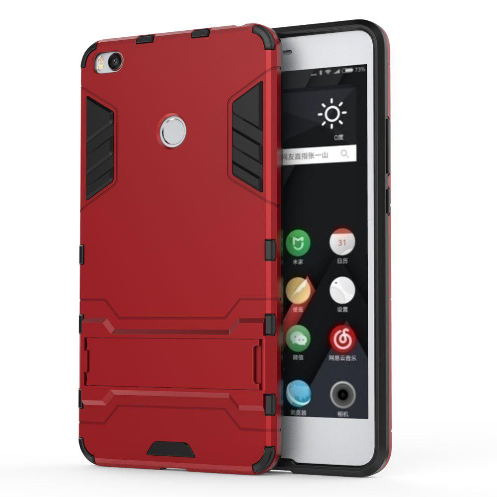Armor Case for Xiaomi Max 2 Silicon Back Shockproof Protection Cover - RED