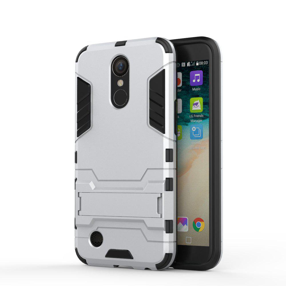 Armor Case for LG K10 2017 / LV5 Shockproof Protection Cover - SILVER