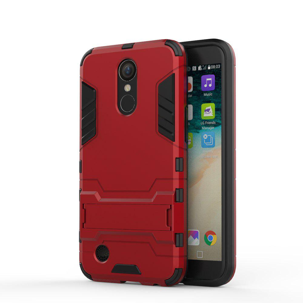 Armor Case for LG K10 2017 / LV5 Shockproof Protection Cover - RED
