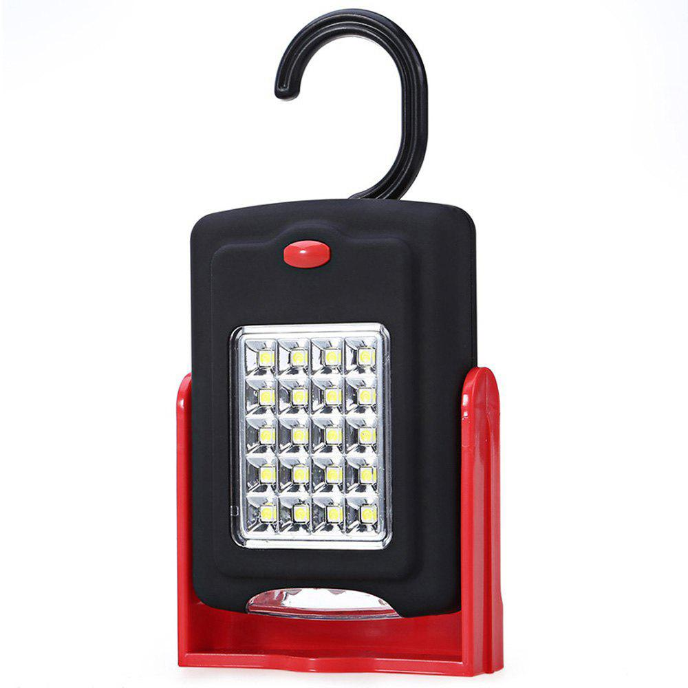 Portable 23 LED Work Light Lamp Flashlights with Magnet and Standing Rotating Hanging Hook for Outdoor portable 2 in 1 tent ceiling fan with 16 led flashlights lamp light for outdoor camping tent lamp hiking with hook