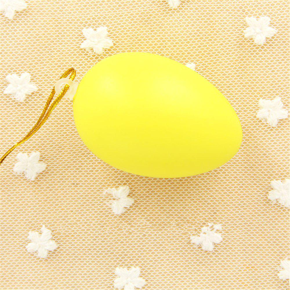 Plastic Easter Egg Pack of Empty  Hunt Assorted Colours - YELLOW