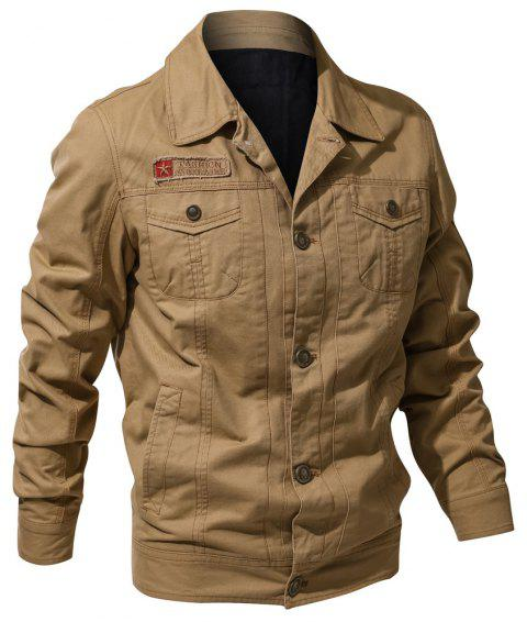 Spring and Autumn Tooline Jacket - FALL LEAF BROWN 3XL