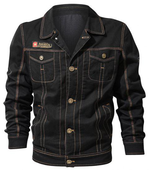 Spring and Autumn Tooline Jacket - BLACK 3XL