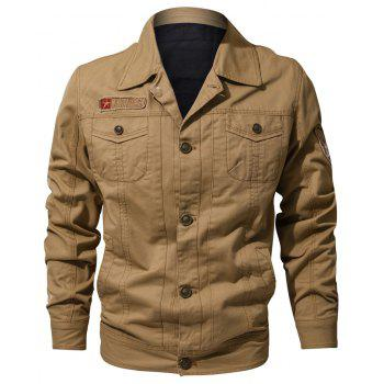 Spring and Autumn Tooline Jacket - FALL LEAF BROWN 4XL
