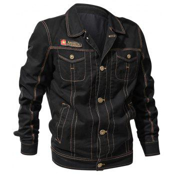 Spring and Autumn Tooline Jacket - BLACK 4XL