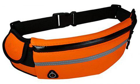 Water Resistant Runners Belt Fanny Pack for Hiking Fitness - ORANGE