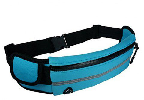 Water Resistant Runners Belt Fanny Pack for Hiking Fitness - CYAN OR AQUA