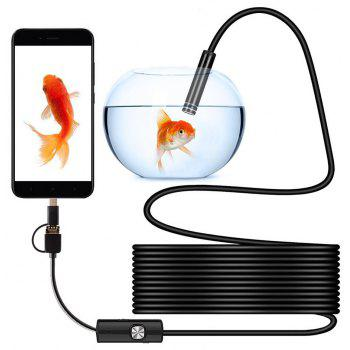 3 in 1 USB Mobile Phone 5.5MM Endoscope  2M Cable Waterproof Miniature Camera - BLACK