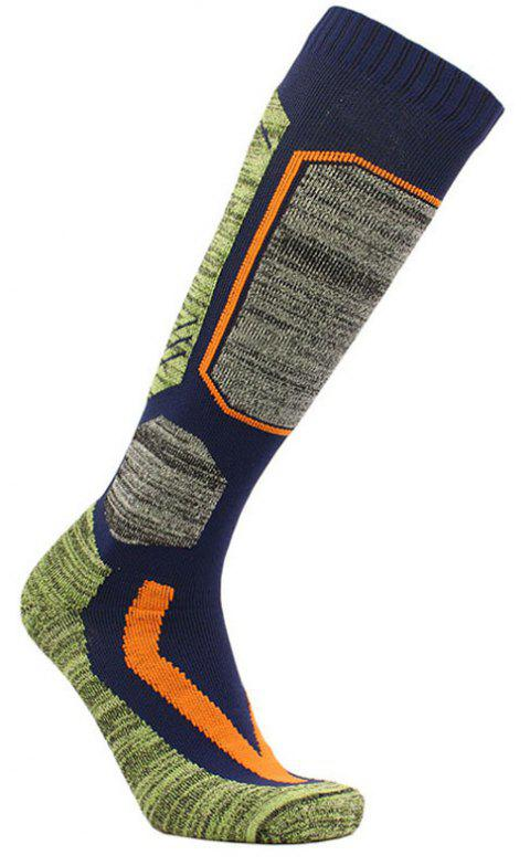 Towel Bottom Long Style Thickening Socks for Skiing Outdoor Climbing - BLUE L