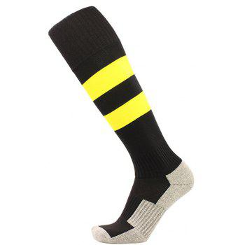 Owel Bottom Children Long Tube Soccer Socks - BLACK M
