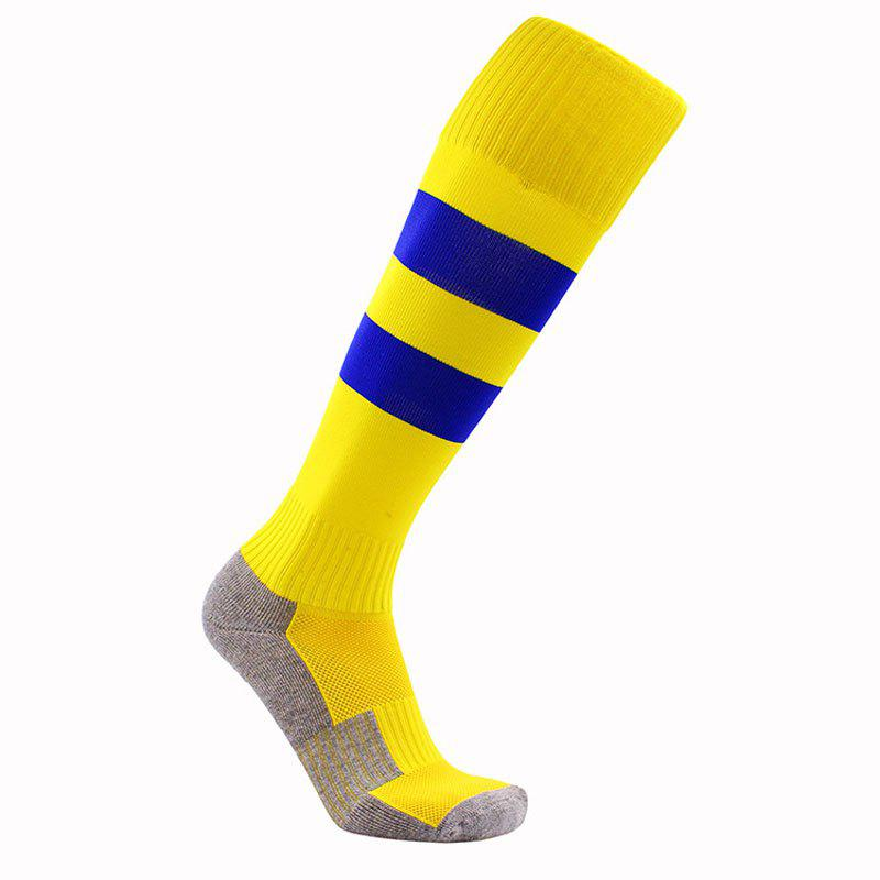 Owel Bottom Children Long Tube Soccer Socks - YELLOW S
