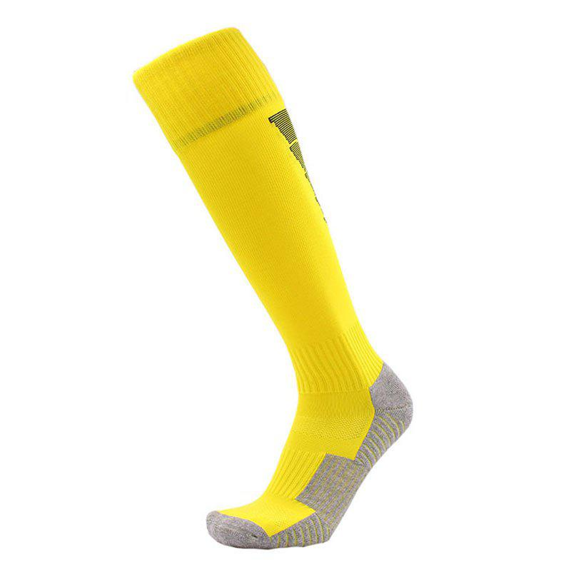 Male Skid Socks for Football Stockings - YELLOW L