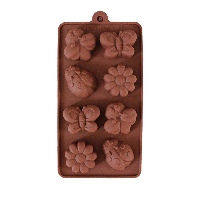 Creative Cute Bee Beetle Chocolate Silicone Mold Cake Decorating Tools creative romantic love rose design silicone cake mold 2pcs
