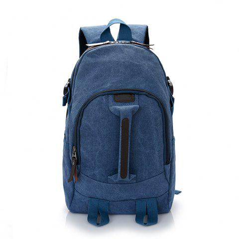 Wild Simple Large Capacity Canvas Outdoor Men'S Travel Backpack Tide - BLUE