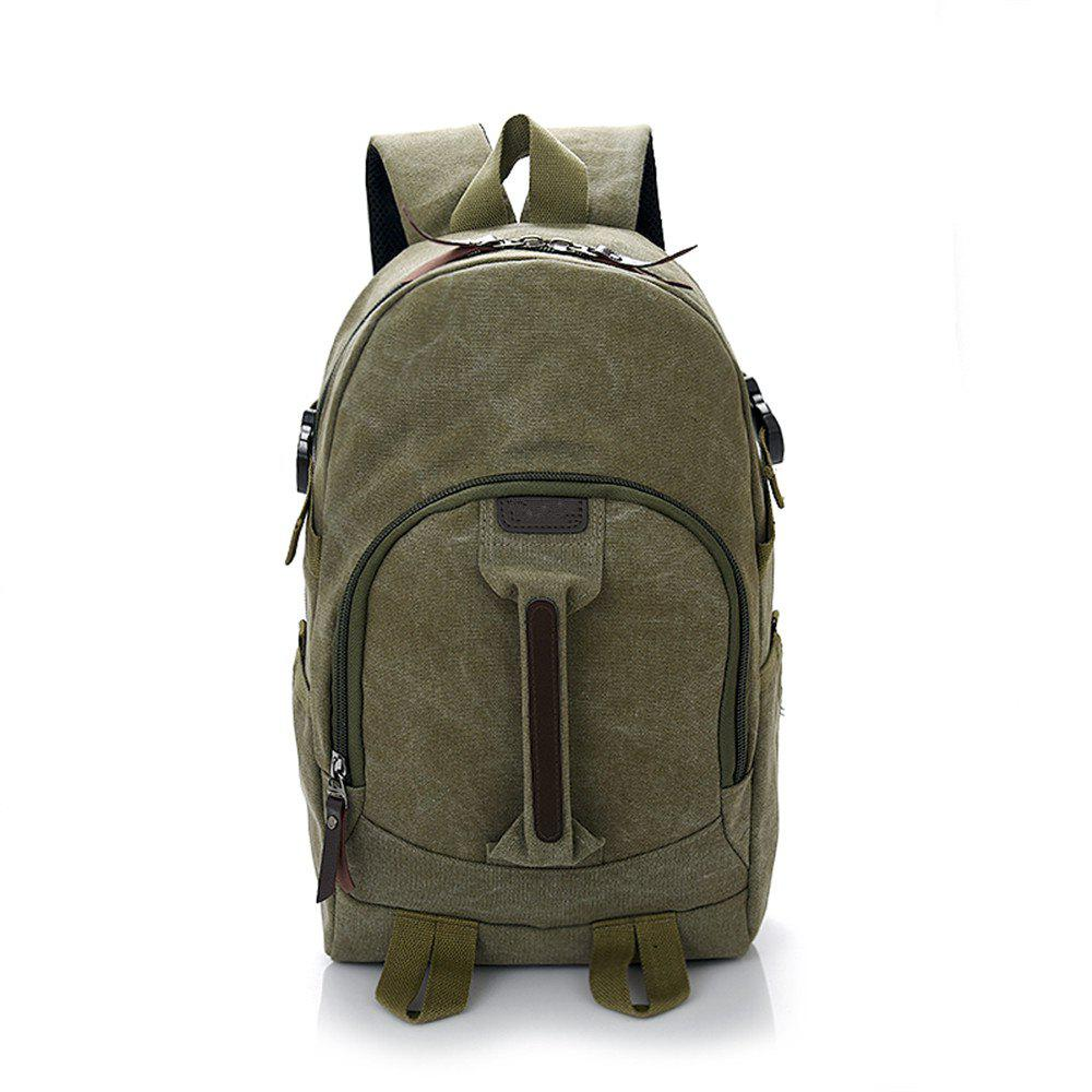 Wild Simple Large Capacity Canvas Outdoor Men'S Travel Backpack Tide - JUNGLE GREEN
