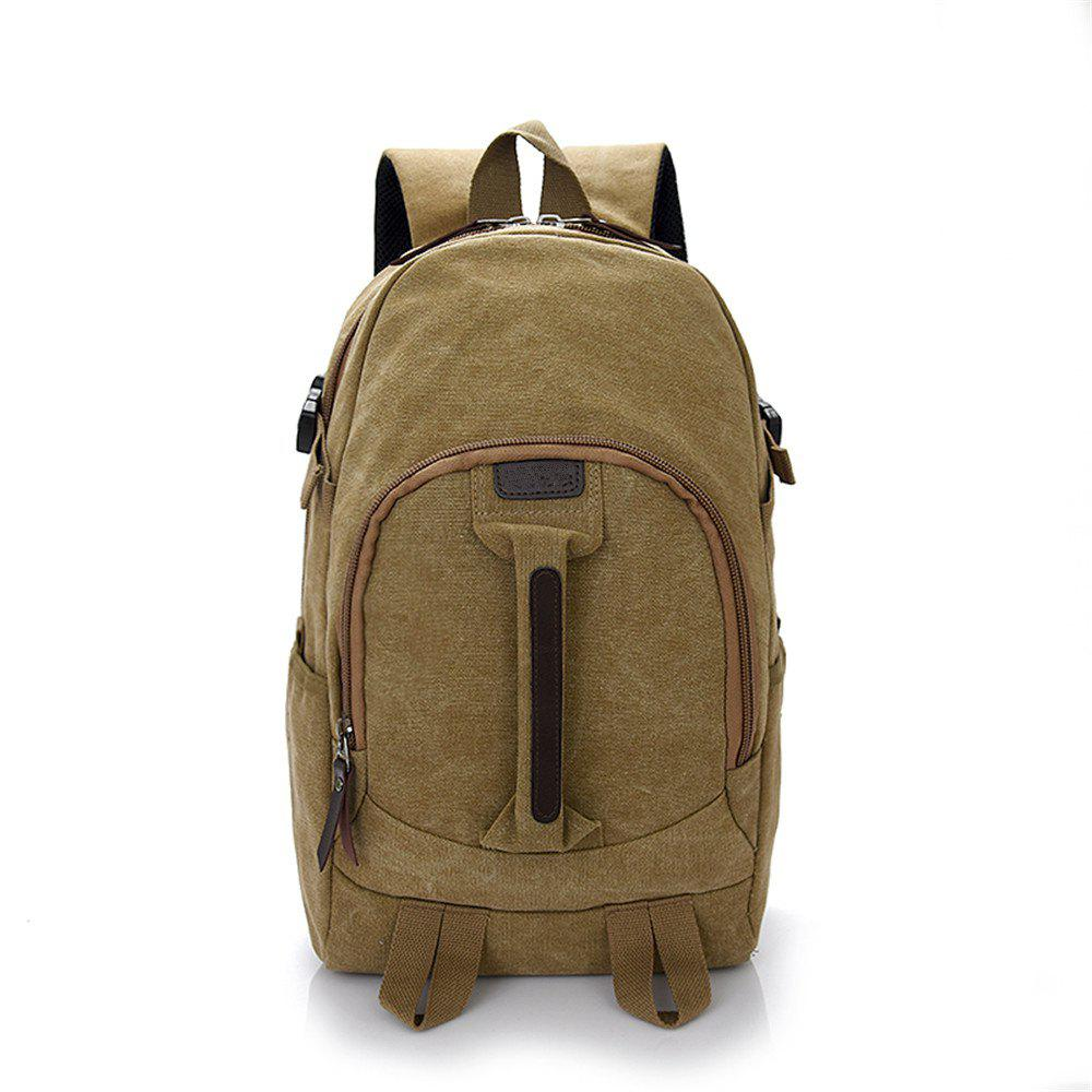 Wild Simple Large Capacity Canvas Outdoor Men'S Travel Backpack Tide - TIGER ORANGE