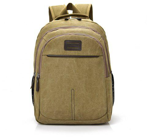 Fashion Simple Wild Large Canvas Travel Outdoor Backpack - TIGER ORANGE