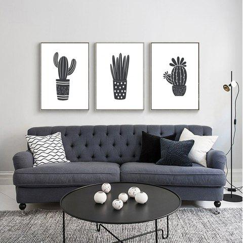Minimalist Modern Decorative Cactus Plant Home Bedroom Living Room Abstract  Art