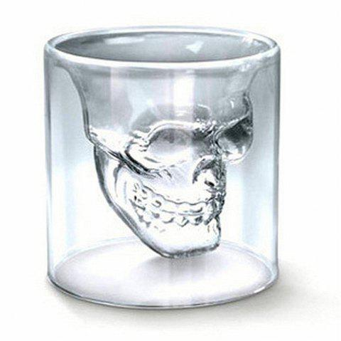 Sizes Halloween Skull Cup Wine Head Creative Party Drink Ware Transparent - MILK WHITE