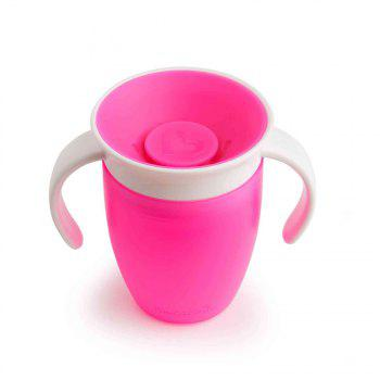 360 Degree Magic Leakproof Water Cup Baby Training Cup - BRIGHT NEON PINK