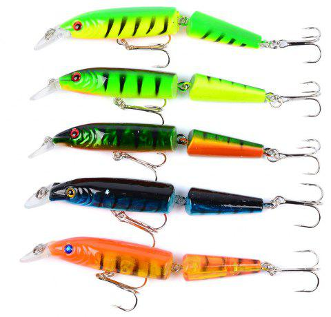 5PC Fishing 10.5CM/9.6G Minnow Plastic Fishing Tackle Bait - multicolor