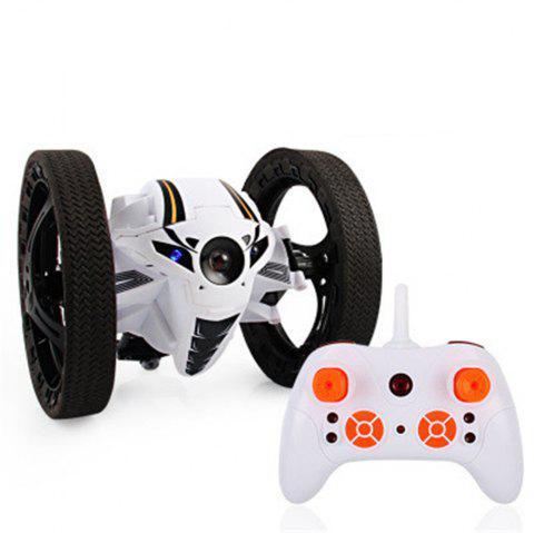 Bounce Remote Control Toys Jumping High Speed Switch Flexible Stunt Car PEG Lights Kids Xmas Gift - WHITE