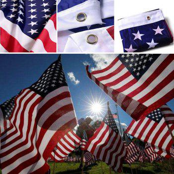 150 x 90CM Us Flag High Quality Double Sided Printed American  Grommets - multicolor