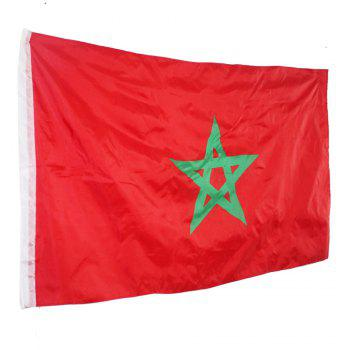 Home Decoration Morocco Banner Hanging National Flags - RED