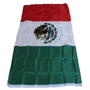 Mexico Flag Country  High Quality Fabrics - multicolor