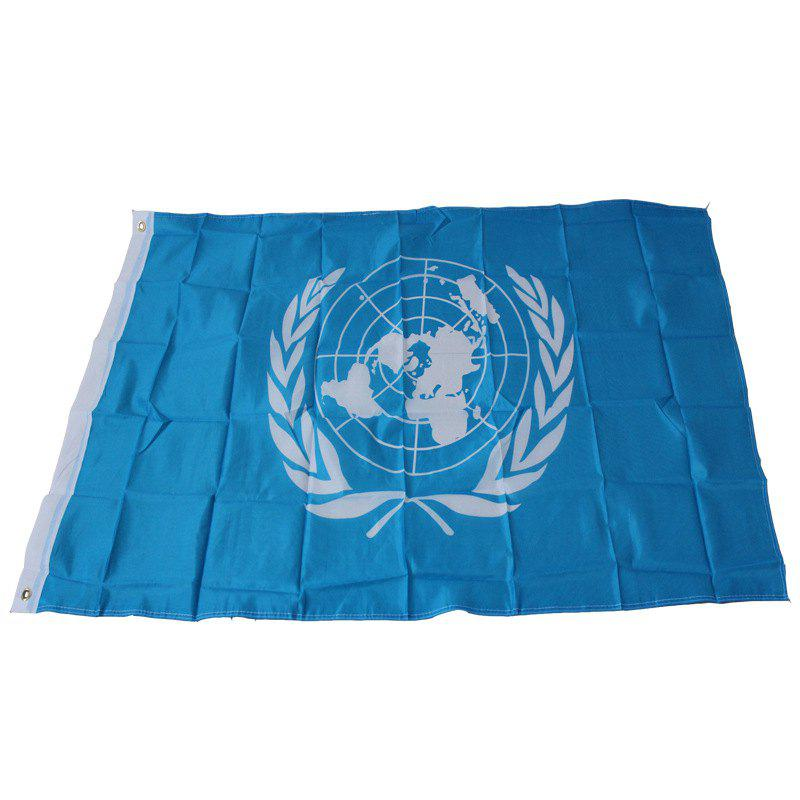 UN Flag Banner Indoor Outdoor New Decoration - BLUE
