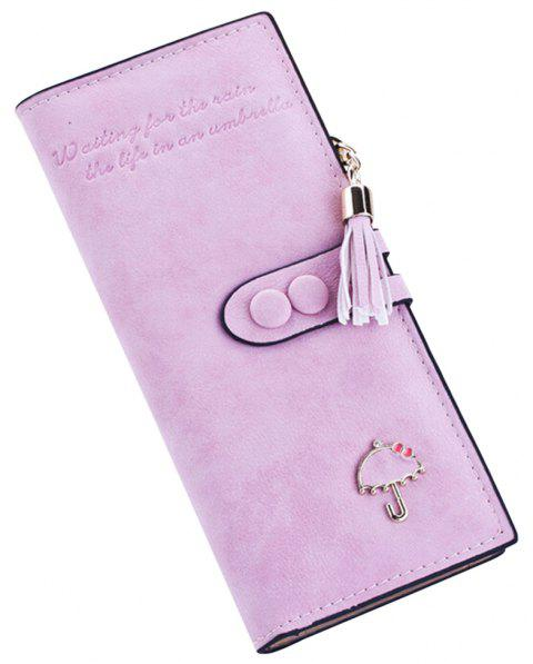 Long Umbrella Multifunctional Zipper Wallet - BLOSSOM PINK
