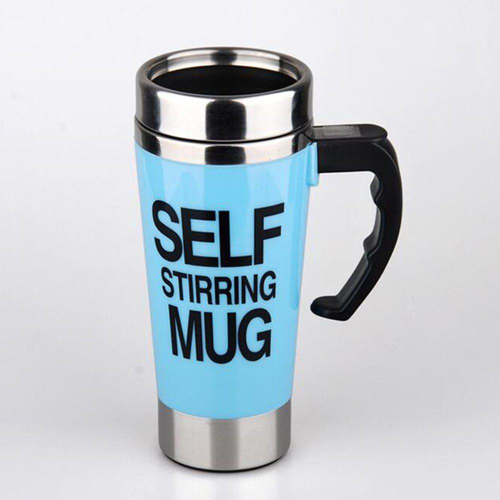 Electric Stainless Steel Rotating Coffee Cup - ROBIN EGG BLUE