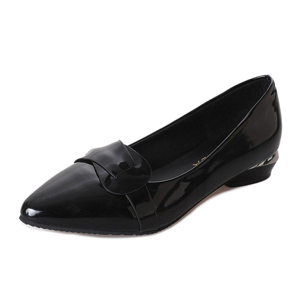 Shallow Mouthed Shingle Professional Women's Shoes - BLACK 39